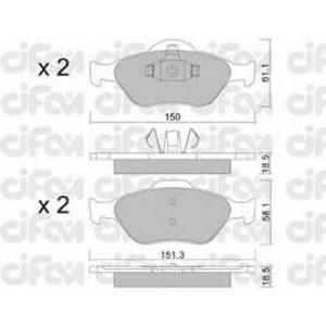 CIFAM 822-316-0 Колодка торм. FORD/MAZDA FIESTA/FUSION передн. (пр-во Cifam)