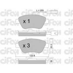 CIFAM 8223210 Комплект тормозных колодок, дисковый тормоз