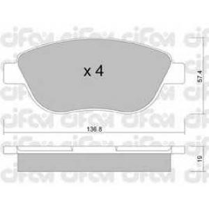 CIFAM 8223221 Комплект тормозных колодок, дисковый тормоз