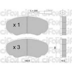 CIFAM 8223250 Комплект тормозных колодок, дисковый тормоз