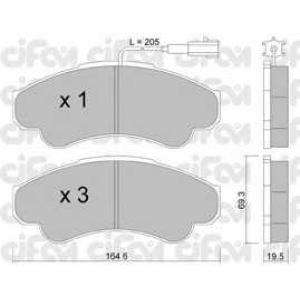 CIFAM 8223260 Комплект тормозных колодок, дисковый тормоз