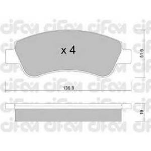 CIFAM 822-327-0 Колодка торм. CITROEN C4, PEUGEOT PARTNER передн. (пр-во Cifam)