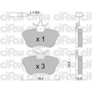 CIFAM 8223461 Комплект тормозных колодок, дисковый тормоз