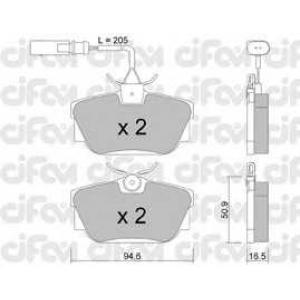CIFAM 822-346-2 Комплект тормозных колодок, дисковый тормоз Фиат Премио