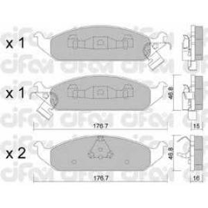 CIFAM 822-355-0 Комплект тормозных колодок, дисковый тормоз Додж Стратус
