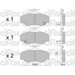 CIFAM 822-366-0 Комплект тормозных колодок, дисковый тормоз Хюндай Н100