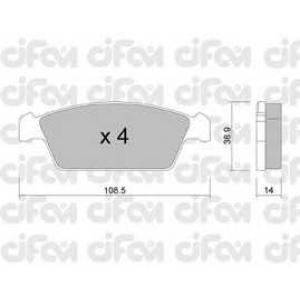 CIFAM 822-367-0 Комплект тормозных колодок, дисковый тормоз Дэу Тико