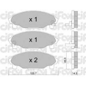 CIFAM 822-379-0 Комплект тормозных колодок, дисковый тормоз Дайхатсу