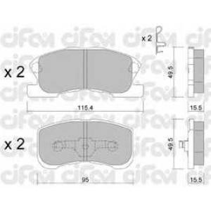 CIFAM 822-381-0 Комплект тормозных колодок, дисковый тормоз Дайхатсу