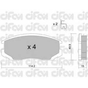CIFAM 822-382-0 Комплект тормозных колодок, дисковый тормоз Дайхатсу Териос