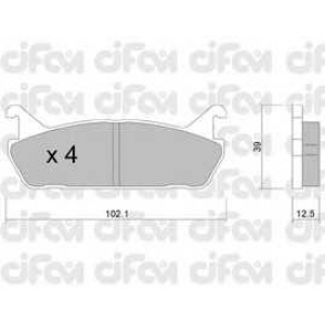 CIFAM 822-390-0 Комплект тормозных колодок, дисковый тормоз Дайхатсу Аплоус