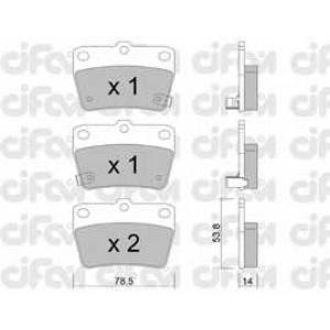 CIFAM 8224310 Комплект тормозных колодок, дисковый тормоз