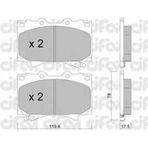 CIFAM 8224520 Комплект тормозных колодок, дисковый тормоз