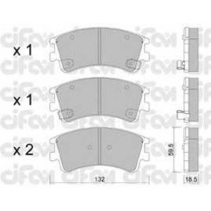 CIFAM 8224760 Комплект тормозных колодок, дисковый тормоз