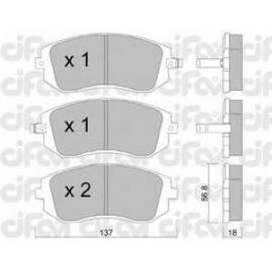 CIFAM 822-500-0 Колодка торм. SUBARU LEGACY IV передн. (пр-во Cifam)