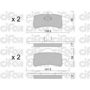 CIFAM 8225260 Комплект тормозных колодок, дисковый тормоз