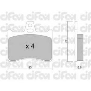 CIFAM 822-531-0 Комплект тормозных колодок, дисковый тормоз Ситроен Cx Брейк