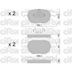 CIFAM 8225340 Комплект тормозных колодок, дисковый тормоз