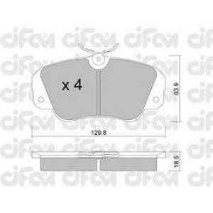 CIFAM 8225380 Комплект тормозных колодок, дисковый тормоз