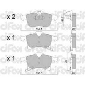 CIFAM 822-539-0 Колодка торм. OPEL ASTRA H передн. (пр-во Cifam)