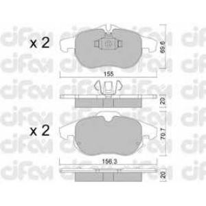 CIFAM 8225400 Комплект тормозных колодок, дисковый тормоз