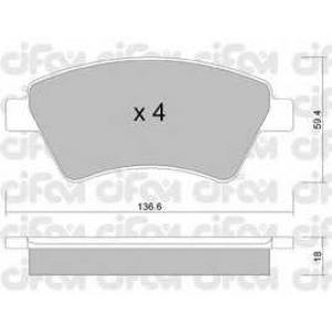 CIFAM 8225440 Комплект тормозных колодок, дисковый тормоз