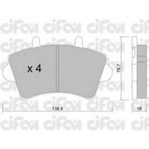 CIFAM 8225450 Комплект тормозных колодок, дисковый тормоз