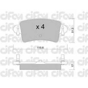 CIFAM 8225460 Комплект тормозных колодок, дисковый тормоз