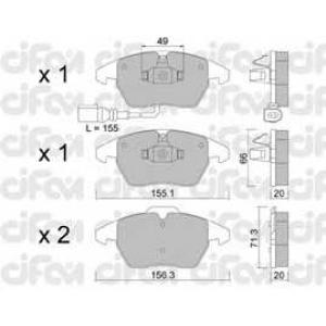 CIFAM 8225480 Комплект тормозных колодок, дисковый тормоз