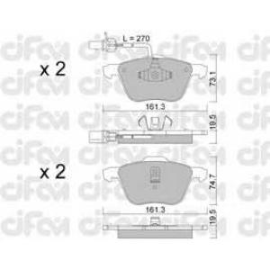 CIFAM 822-551-0 Комплект тормозных колодок, дисковый тормоз Фиат Премио