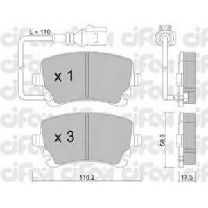 CIFAM 822-554-0 Колодка торм. VW T5 (7HM, 7HB, 7HJ) задн. (пр-во Cifam)