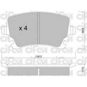 CIFAM 822-554-2 Колодка торм. AUDI, VW T5 задн. (пр-во Cifam)