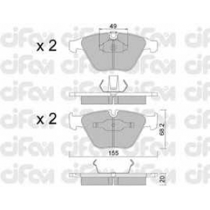 CIFAM 8225580 Комплект тормозных колодок, дисковый тормоз