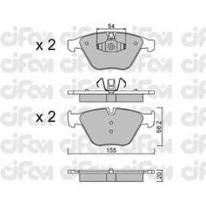 CIFAM 8225586 Комплект тормозных колодок, дисковый тормоз