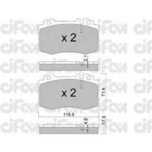 CIFAM 8225635 Комплект тормозных колодок, дисковый тормоз