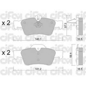 CIFAM 8225680 Комплект тормозных колодок, дисковый тормоз