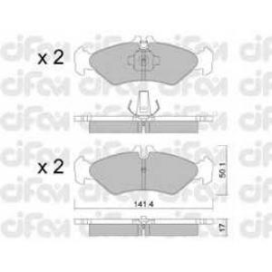 CIFAM 8225710 Комплект тормозных колодок, дисковый тормоз