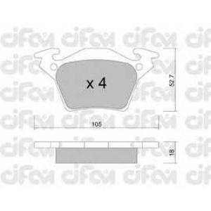 CIFAM 8225740 Комплект тормозных колодок, дисковый тормоз