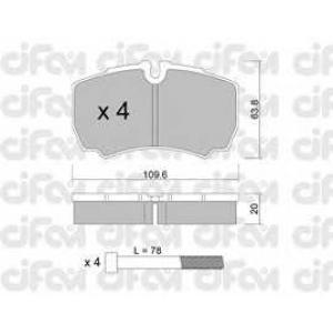 CIFAM 8226040 Комплект тормозных колодок, дисковый тормоз