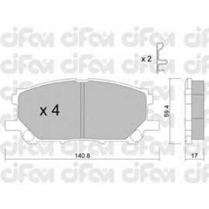 CIFAM 8226180 Комплект тормозных колодок, дисковый тормоз