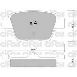 CIFAM 822-639-0 Тормозные колодки задние C4/307 Bosch