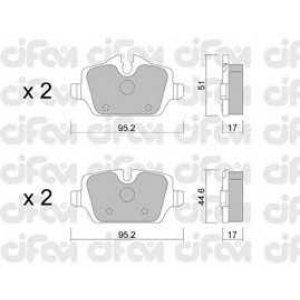 CIFAM 8226410 Комплект тормозных колодок, дисковый тормоз