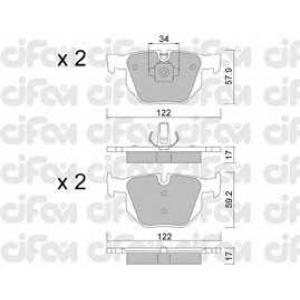 CIFAM 8226444 Комплект тормозных колодок, дисковый тормоз
