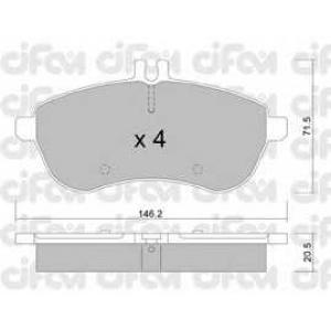 CIFAM 8226650 Комплект тормозных колодок, дисковый тормоз