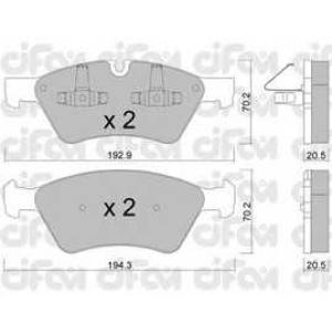 CIFAM 8226700 Комплект тормозных колодок, дисковый тормоз