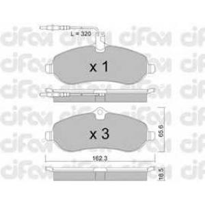 CIFAM 8227070 Комплект тормозных колодок, дисковый тормоз