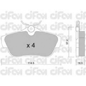 CIFAM 8227120 Комплект тормозных колодок, дисковый тормоз