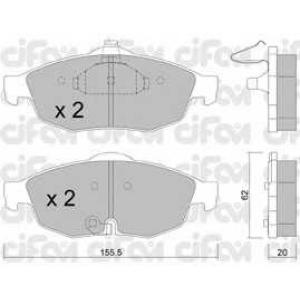 CIFAM 822-715-0 Комплект тормозных колодок, дисковый тормоз Додж Стратус