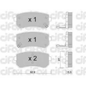 CIFAM 8227250 Комплект тормозных колодок, дисковый тормоз