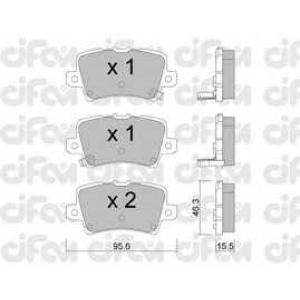 CIFAM 8227290 Комплект тормозных колодок, дисковый тормоз